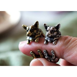 リング コーギー 犬 Cリング C型リング フォークリング アニマルリング グッズ 雑貨|nfw