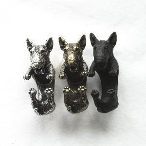 リング ブルテリア 犬 Cリング C型リング フォークリング アニマルリング ファランジリング ユニセックス 雑貨 グッズ|nfw