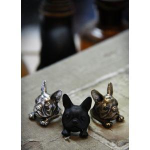 リング フレンチブルドッグ 犬 アニマルリング 動物リング グッズ 雑貨|nfw