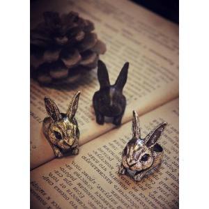 リング ウサギ アニマルリング 動物リング ネザーランド ヒマラヤン フレミッシュ ハーレクイーン 雑貨 グッズ|nfw