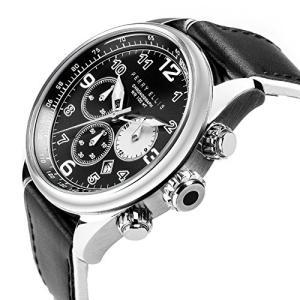 [ペリー・エリス]Perry Ellis 腕時計 GT クォーツ 44 mmケース 本革バンド 01002-01 メンズ 【正規輸入品】|ngo-worksstore