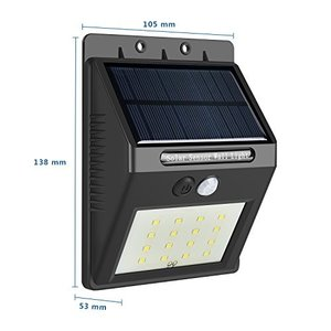 センサーライト ソーラーライト 太陽光発電 16LED屋外照明 人感センサー搭載 アウトドアライト 自動点灯 自動消灯 防水IP65 防雨 屋外/壁掛|ngo-worksstore