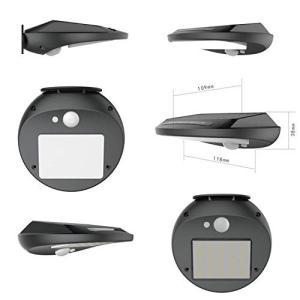 ソーラーライト センサーライト 30 LED 人感 自動点灯 防犯 防水 室外照明 玄関 庭園 駐車場 (4 PACK)|ngo-worksstore
