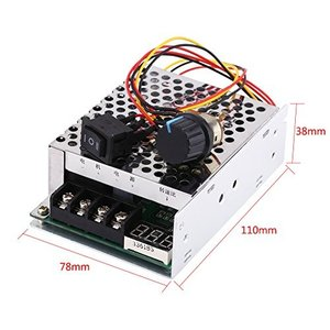 10V - 55V 40A DCモーター スピードコントローラガバナー PWMコントローラモータ スピードレギュレータ デジタル表示の反転方向スイッチ|ngo-worksstore