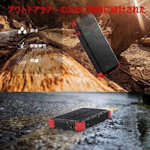 [快速充電] OUTXE 20000mAh ソーラーチャージャー (4A 2入力ポート) USB素早く充電できる防水|ngo-worksstore