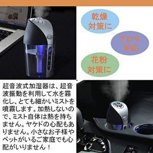 KYOUDEN 加湿器 卓上加湿器 車用加湿器 超音波式 車載対応 USBミニ加湿器 車 加湿器 水質浄化 乾燥対策 (レッド)|ngo-worksstore