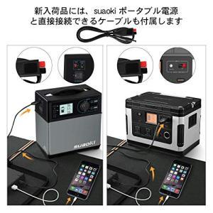 suaokiソーラーチャージャー 100W ソーラーパネル 高変換効率 折りたたみ式 USB DC(18V) 出力端子 ソーラー充電器 防災 非常用|ngo-worksstore