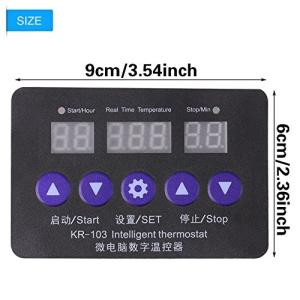 12V 10A 多機能デジタルLED温度コントローラ サーモスタットコントロールスイッチ インキュベーター/工場温度コントロール/インキュベーター温度|ngo-worksstore