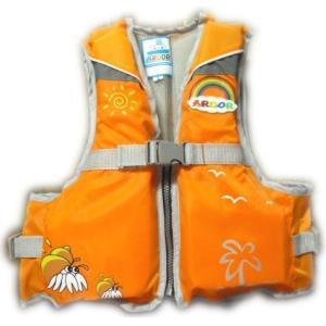 【お買い得】ジュニアフローティングベスト Mサイズ AR-040 (ライフジャケット、子供用) (オレンジ)|ngo-worksstore