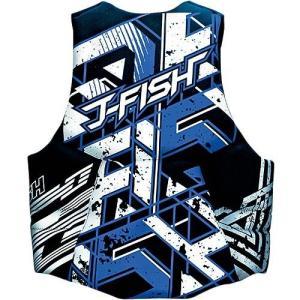 [ジェイフィッシュ] ネオ ライフベスト ブラック×ブルー JNV-34120 S|ngo-worksstore
