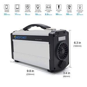 充電方法: ACアダプタ充電、シガーソケット、ソーラーパネル充電可能(弊社の別売りの70Wソーラーパ...