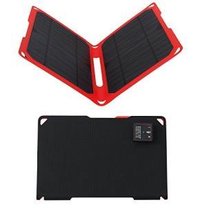 Xionel 14W ソーラーチャージャ ETFEソーラーパネル 2ポートソーラー充電器 USBデバイス用|ngo-worksstore