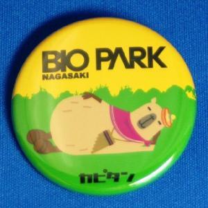 【ネコポス可】カピタン缶バッジ(昼寝)|ngsbiopark-amigos