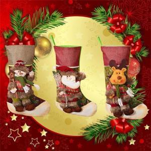 クリスマスソックス サンタ 雪だるま 熊 トナカイ 飾り 装飾 壁掛け 玄関飾り 可愛い お菓子入り プレゼント袋 ラッピング袋 置物 子供 道具 ngytomato