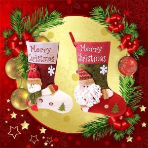クリスマスソックス サンタ 雪だるま 飾り 装飾 壁掛け 玄関飾り 可愛い お菓子入り プレゼント袋 ラッピング袋 置物 子供 道具 靴下 ngytomato