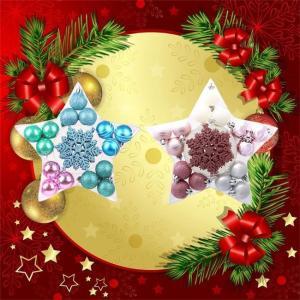 クリスマス ボール オーナメント 2種類 24個入り クリスマスツリー飾り 華麗 デコレーション 雑貨 装飾 壁掛け 玄関飾り プレゼント シルバー ピンク ngytomato