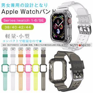 アップルウォッチ バンド ナイロン 透明 クリア  38mm 40mm 42mm 44mm スポーツバンド ランニング ランニングウォッチ Apple Watch SE Series6/5/4/3/2/1|ngytomato
