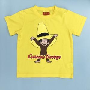おさるのジョージ Tシャツ帽子でいたずら 90 Y|nhkgoods