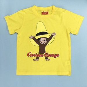 おさるのジョージ Tシャツ帽子でいたずら 110 Y|nhkgoods