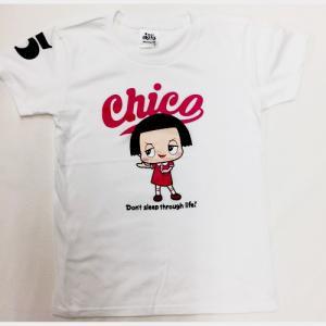チコちゃん Tシャツ Lホワイトピンク ロゴの商品画像 ナビ