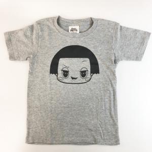 チコちゃん Tシャツ 120cmグレーブラック フェイス