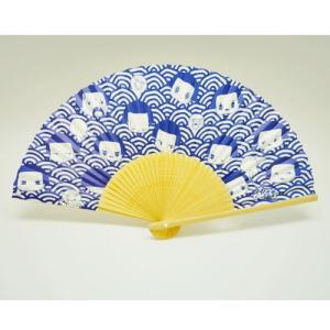 チコちゃん 涼風和紙扇子 青海波