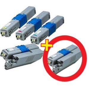 OKI対応 TC-C4AK2 C4AC2 C4AM2 C4AY2 リサイクルトナー (4色セット) + BK1本|nhshop