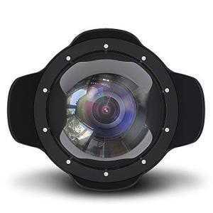 Sea frogs 防水 魚眼レンズ 6'' レンズ 広角レンズ キャノンEOS M3 ケース用 22mm ニコン Nikon J5 ケース|ni-store