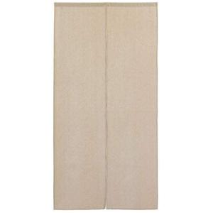 Sunny day fabric のれん 生成り 幅85cm x 丈170cm ナチュラルリネン ロング丈 無地 シンプル 綿麻 天然素材 ni-store