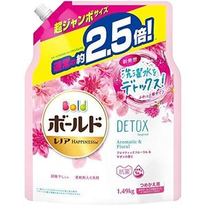 ボールド 洗濯洗剤 液体 洗濯水をデトックス アロマティックフローラル&サボン 詰め替え 約2.5倍(1490g)|ni-store