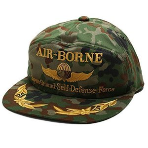 【CAC021】 防衛省自衛隊グッズ SELF DEFENSE FORCE 帽子 陸上自衛隊 アポロキャップ パラシュートエアボーン 徽章|ni-store