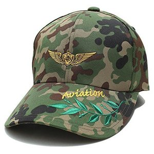 【CAC048】 防衛省自衛隊グッズ SELF DEFENSE FORCE キャップ 帽子 陸上自衛隊 野球帽 アビエーション 徽章 記章|ni-store