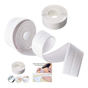 KaLaiXing 浴槽と壁のコーキングストリップ キッチンコーキングテープ 浴室壁シールテープ 防水自己接着装飾品-white ni-store