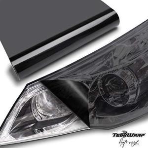 TECKWRAP ヘッドライトフィルム 浅黒(ライトブラック) 30cm×200cm アイラインフィルム テールランプフィルム グロス(艶有 ni-store