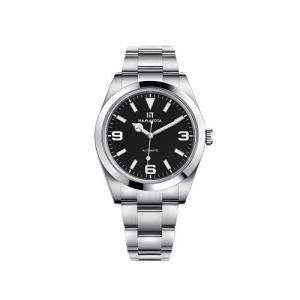 HAMAYOTA 腕時計 メンズ 自動巻き 冒険家 369アナログ サファイアガラス 316Lオールステンレス (ブラック)|ni-store