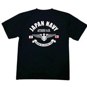 自衛隊グッズ Tシャツ 海上自衛隊 JAPAN NAVY 厚木 WING 速乾 ドライ LL|ni-store