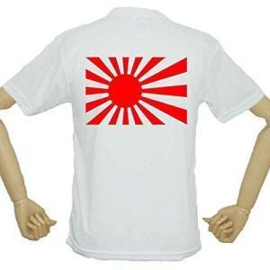 日本が好き、日本代表を応援する 国旗 旭日旗Tシャツ おもしろTシャツ 面白Tシャツ バックプリント|ni-store