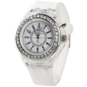 Geneva レインボーLED腕時計 ホワイト|ni-store