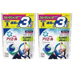 アリエール プラチナスポーツ 洗濯洗剤 ジェルボール3D 詰め替え ウルトラジャンボ 40個(約3倍)×2個セット|ni-store