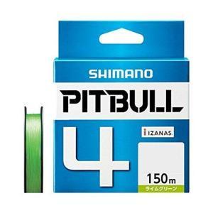 シマノ(SHIMANO) PEライン ピットブル 4本編み 150m 1.2号 ライムグリーン 27.0lb PL-M54R 釣り糸|ni-store