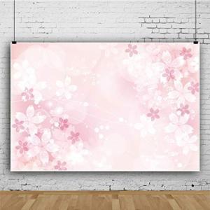 Qinunipoto 背景布 桜の花 花見 撮影布 写真撮影用 ピンクの背景 ぼかし効果の背景 桜の背景 写真の背景 結婚式 誕生日会 ロマ|ni-store
