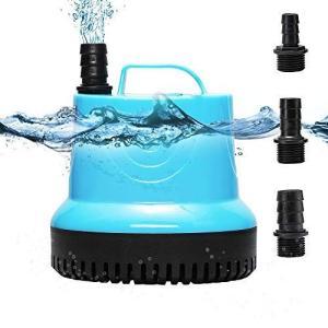 Poafamx 小型水中ポンプ 循環ポンプ 給水・排水ポンプ 110V 55W 静音設計 淡水海水両用 吐出量2200L/h 最大揚程2M ni-store
