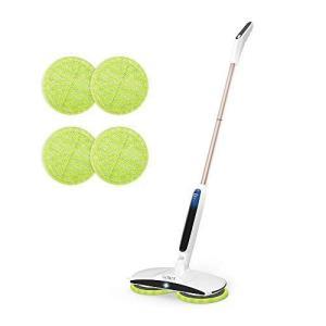 GOBOT 電動モップ 回転モップクリーナー コードレス フロアモップ 充電自走式 回転 式 モップ 長さ調節可 軽量 床掃除モップ 乾拭き|ni-store
