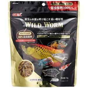 ジェックス ワイルドワーム アメリカミズアブ幼虫100% 昆虫フード 大型魚 熱帯魚 金魚 コイ 水亀|ni-store