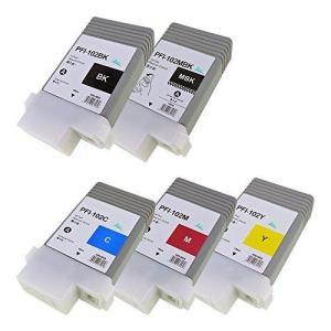 PFI-102 5色セット【BK/MBK/C/M/Y】対応プリンター: iPF655 iPF650 iPF755 iPF750 iPF510|ni-store