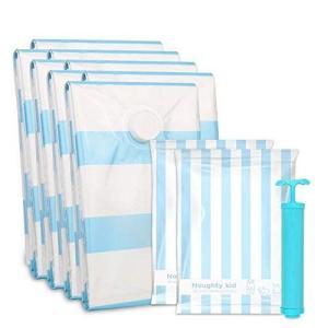 ふとん圧縮袋 10枚組 圧縮袋 (L3枚+M2枚+S3枚+手巻き圧縮袋2枚 ポンプあり 終身交換承り) 梅雨対策 大きめ掛け布団・羽毛布団・|ni-store