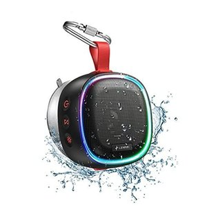 【RGBスピーカー】LENRUE 小型 Bluetooth スピーカー TWS ワイヤレス IPX7防水お風呂スピーカー RBG ライト/防|ni-store