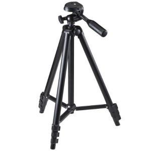 サンワダイレクト 三脚 4段 軽量542g コンパクト クイックシュー式 ビデオカメラ ミラーレス ケース付き 200-CAM021N|ni-store