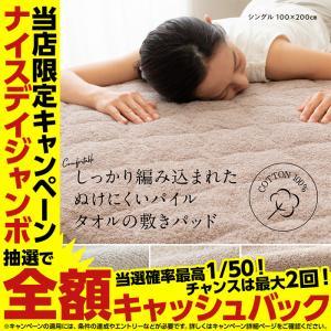 さらっと快適 ぬけにくいパイル 天然素材(綿100%)タオルの敷きパッド S シングル|ナイスデイダイレクト