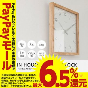 IN HOUSE SQUARE CLOCK スクエアクロック|niceday